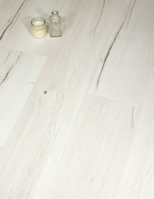 Aqua + White Creston Oak Laminate Flooring