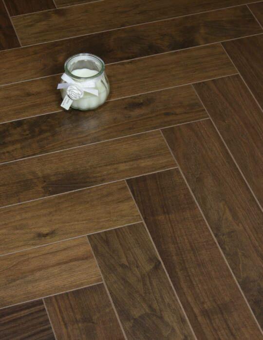 Diamond Herringbone Walnut Floor, Scratch Resistant Laminate Flooring