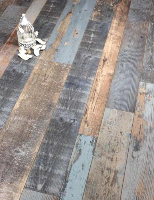 Cobalt Blue Laminate Floor
