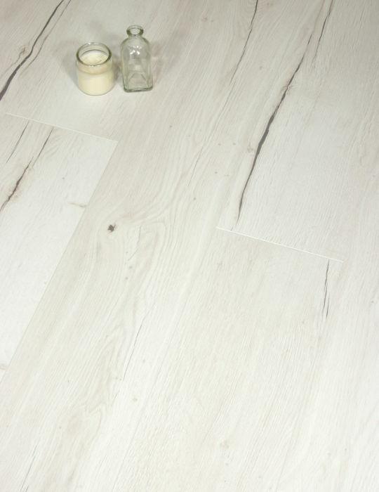 Aqua + White Creston Oak Laminate Flooring