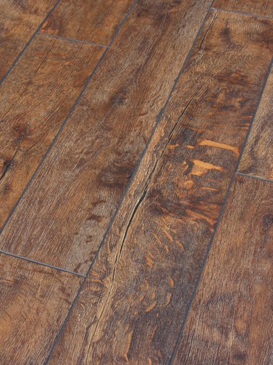 12mm Rustic brown lamiante flooring