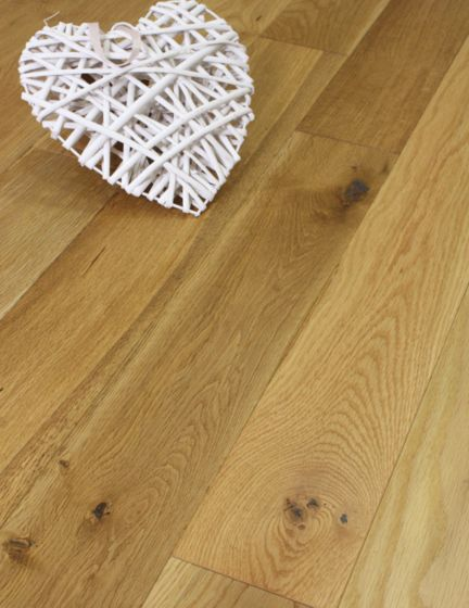 Brushed Oak Solid Wood Flooring