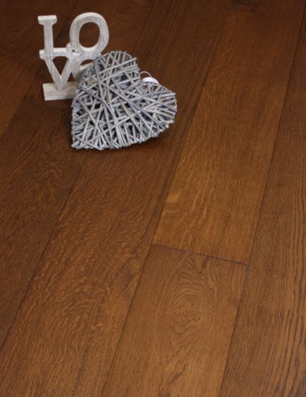 wide rustic dark oak Engineered Wood Flooring