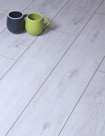 Oak Sedan Light Grey Laminate Flooring