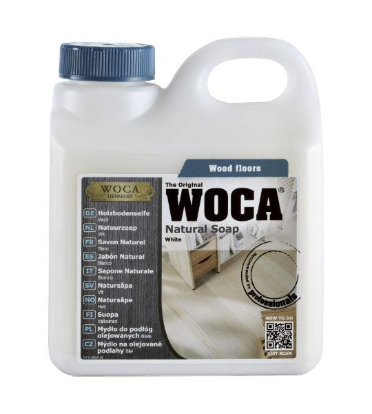 Woca Natural Soap White Oiled Wood Floor Cleaner
