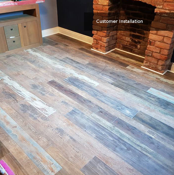 Colourful Mixed Width Laminate Flooring Marley Oak 12mm