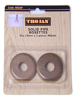 Trojan Walnut Radiator Pipe Collar