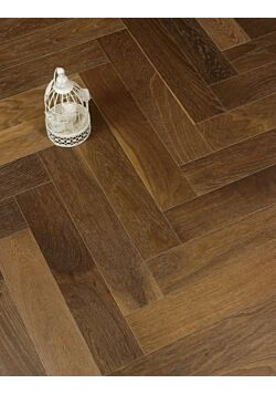 Rustic dark oak herringbone