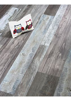 Mixed Width grey Laminate floor