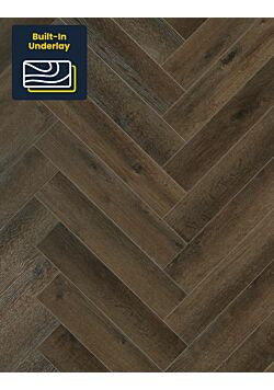 Regent Dark Oak Luxury vinyl herringbone flooring