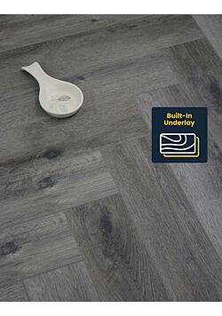 Grey Click Vinyl Herringbone Flooring